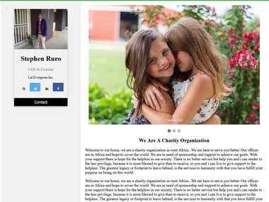 A responsive theme for Charitable organization