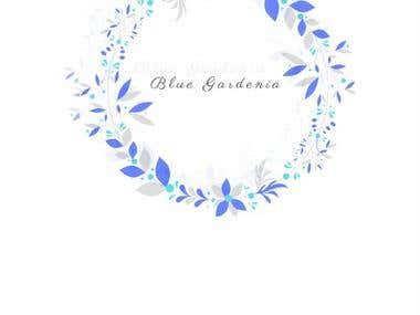 Tag design for Blue gardenia