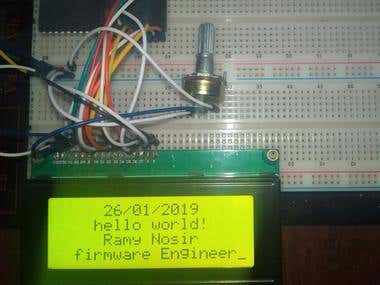--LCD --ATMEGA16A chip