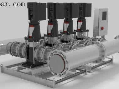 4 Cylinder Water Pump