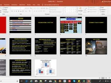 Powerpoint presentation for construction work