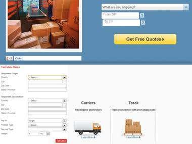 Shipping Company Website