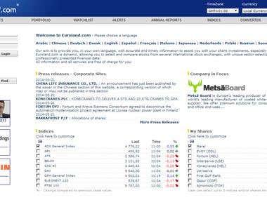 ASP programing, Euroland Asia IR service site