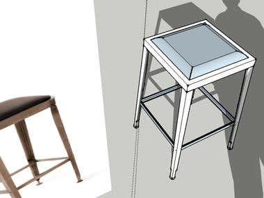 3D models of chairs. 11/7/13