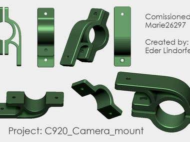 Camera mount for parallel photography