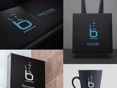 Logo Design Branding - BARCODE Restaurant Bar - USA
