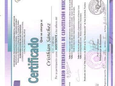 certificado de seminario
