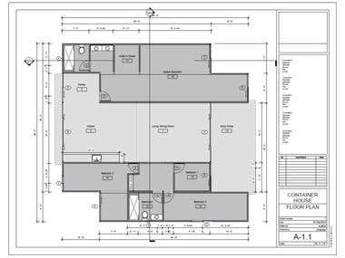 CONTAINER HOUSE DESIGN - CONSTRUCTION DRAWINGS PREPARATION