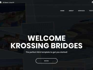Krossing Bridges Official Website Design + Development