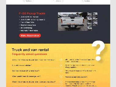 Web Site Design in PSD file created for A client