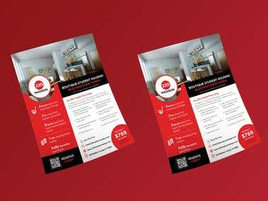 Flyer Design for a student housing company