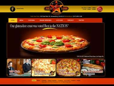 online Pizza website
