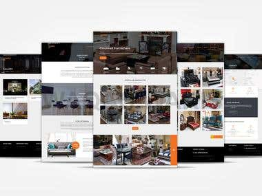Website development for a large Furnishing Company in Pakist