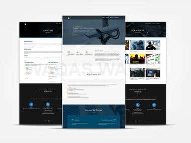 Website development for a Security Guards company