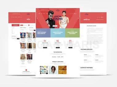 E-commerce website for lady garments
