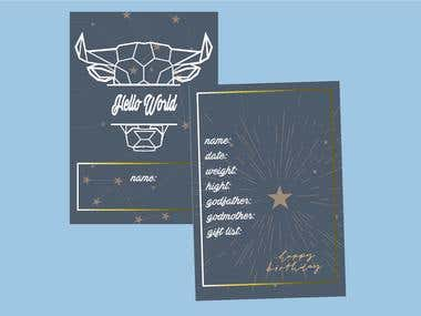 birth card