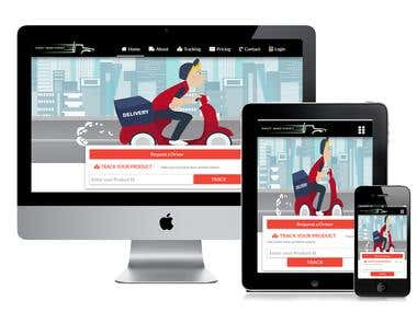 Delivery Service Dynamic Website