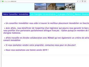 Traductions de site web - Translations