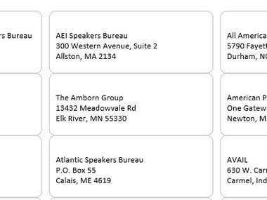 Create US Avery 8160 Address Label in MS Word.