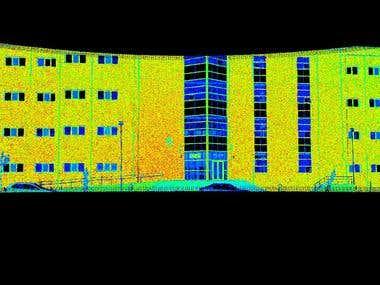 Creating 3D model of a building via LIDAR