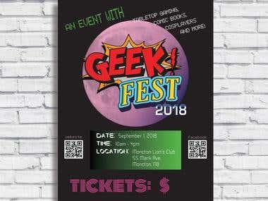 Geek Fest Poster