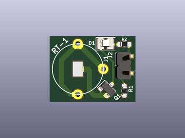 Simple Water-detecting flashing LED