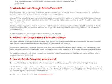 Blogpost - 11 Things to Know when Moving to British-Columbia