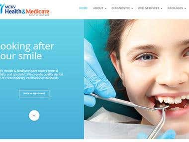 WordPress Website Design & Development for a Healthcare Unit