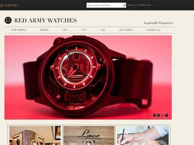 Magento Website design & development for a Watch Company