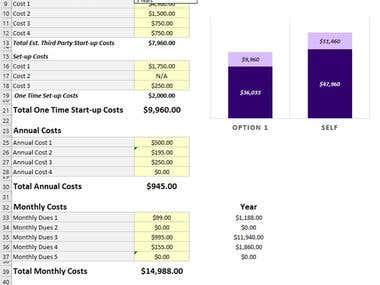 Cost Compare Tool