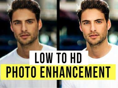 I Will Improve Low To High Resolution HD Images