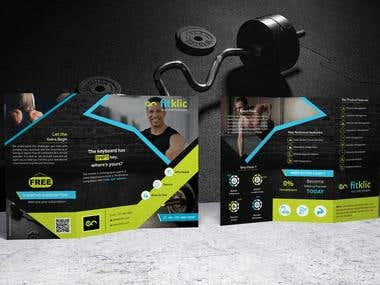 GYM Software 3 Fold Brochure Design
