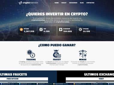 Diseño web Criptomonedas