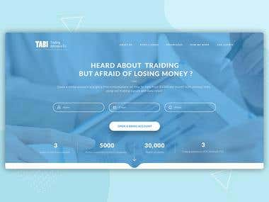 Trading Advisers Landing Page