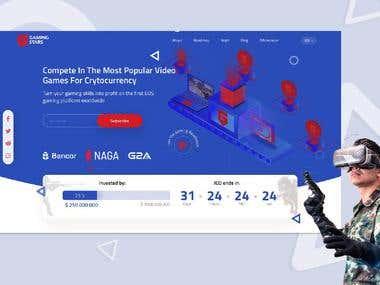 Gaming Stars ICO Landing Page