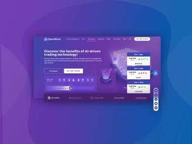 OpenBlock ICO Landing Page