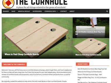 The Cornhole - Wordpress Website