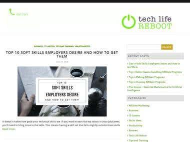 TechLifeReboot - Wordpress