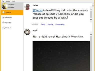 Windows microBlog App