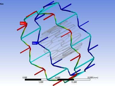 Simulation of biomedical NITINOL stent in ANSYS