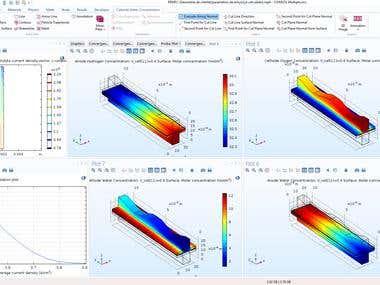 Proton-Exchange Membrane Fuel Cell (PEMFC) in COMSOL