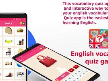 English Vocabulary Quiz Game
