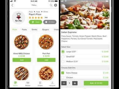Restaurant Finder and Food Delivery App