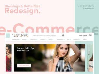 eCommerce Shop / Store Website Redesign