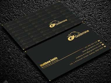 Gold Foil use able Business Card