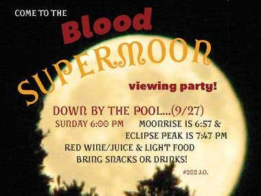 Supermoon Party Flyer, 2015