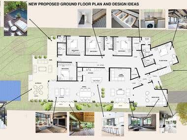 Post Production Photoshop (Architecture Plans)