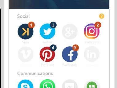 Social Media Contacts App
