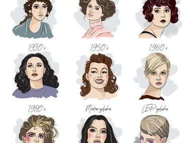 Eyelash illustrations