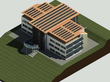 3D Modeling of Building Exterior by using Revit